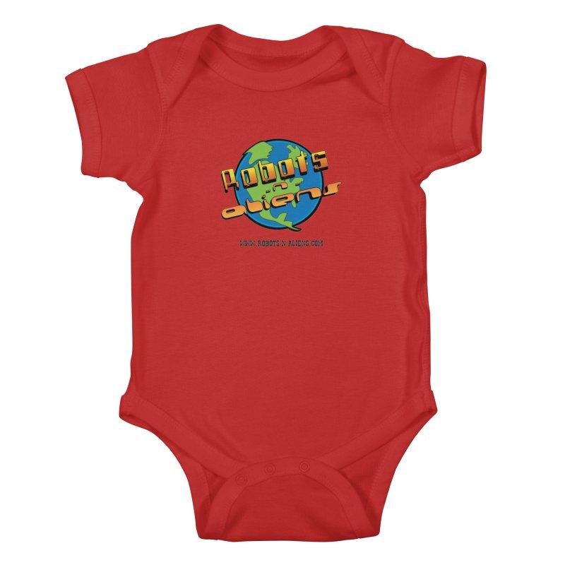 Robots 'n Aliens Big Logo Kids Baby Bodysuit by Coconut Justice's Artist Shop