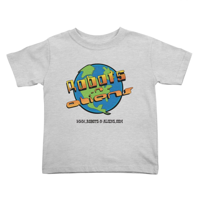 Robots 'n Aliens Big Logo Kids Toddler T-Shirt by Coconut Justice's Artist Shop