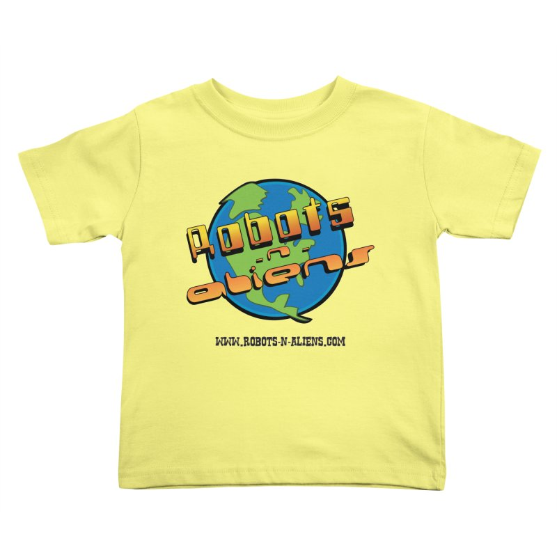 Robots 'n Aliens Big Logo Kids Toddler T-Shirt by Coconut Justice's Artist Shop