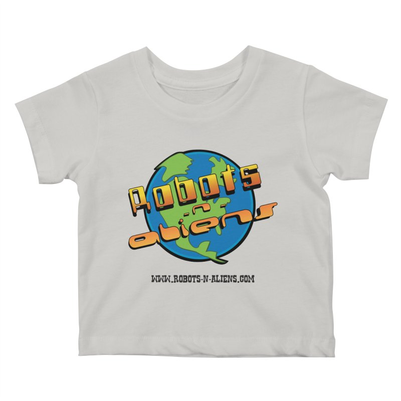 Robots 'n Aliens Big Logo Kids Baby T-Shirt by Coconut Justice's Artist Shop