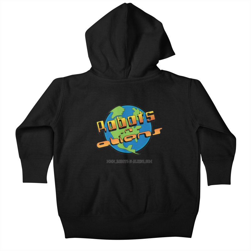 Robots 'n Aliens Big Logo Kids Baby Zip-Up Hoody by Coconut Justice's Artist Shop