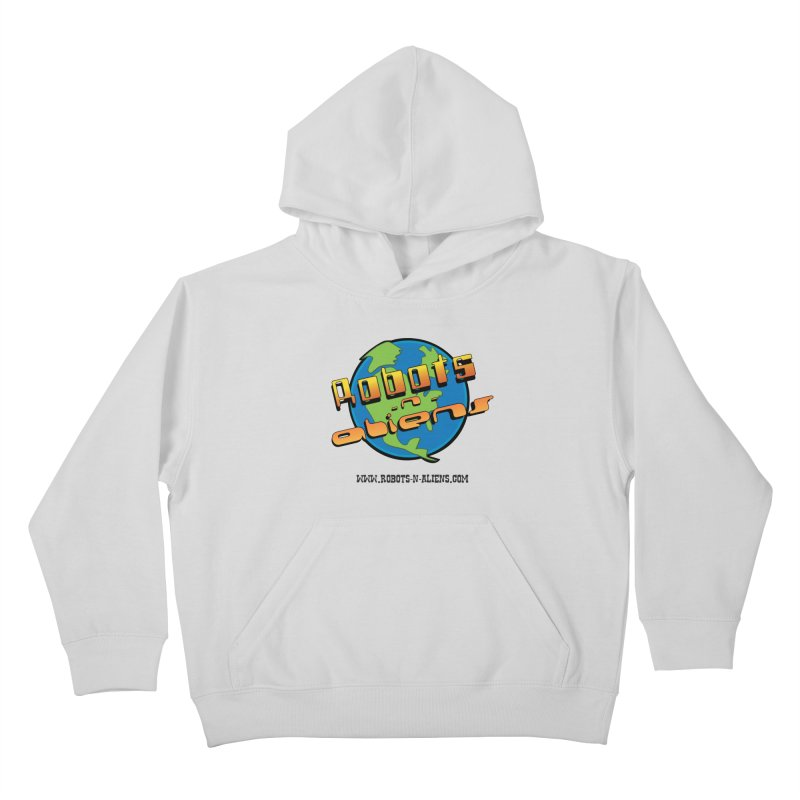 Robots 'n Aliens Big Logo Kids Pullover Hoody by Coconut Justice's Artist Shop