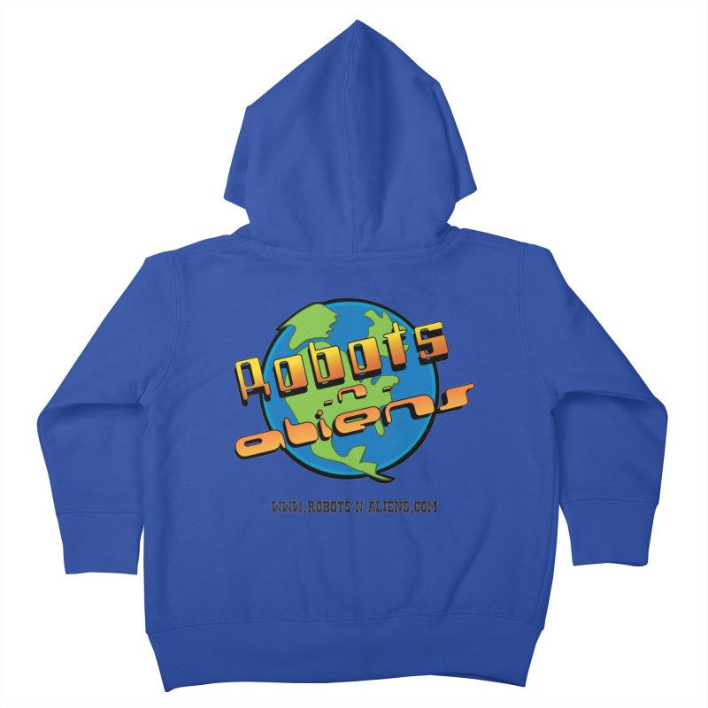 Robots 'n Aliens Big Logo Kids Toddler Zip-Up Hoody by Coconut Justice's Artist Shop