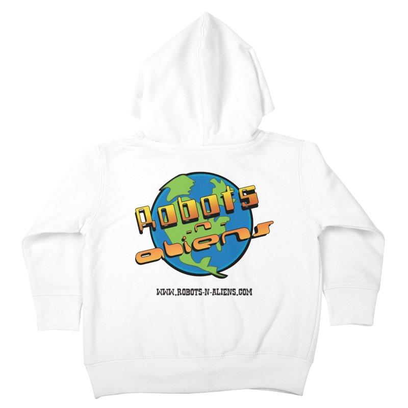 Robots 'n Aliens Big Logo Kids Toddler Zip-Up Hoody by Coconut Justice's Artist Shop