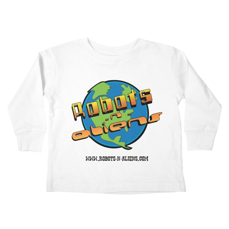 Robots 'n Aliens Big Logo Kids Toddler Longsleeve T-Shirt by Coconut Justice's Artist Shop