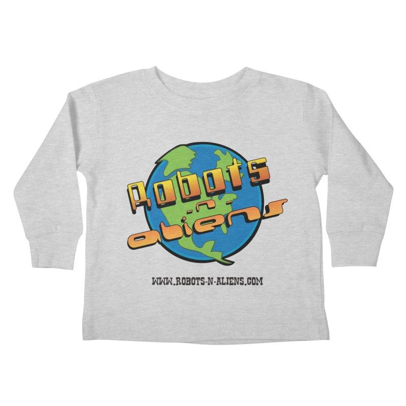 Robots 'n Aliens Big Logo Kids Toddler Longsleeve T-Shirt by Coconut Justice's Artist Shop