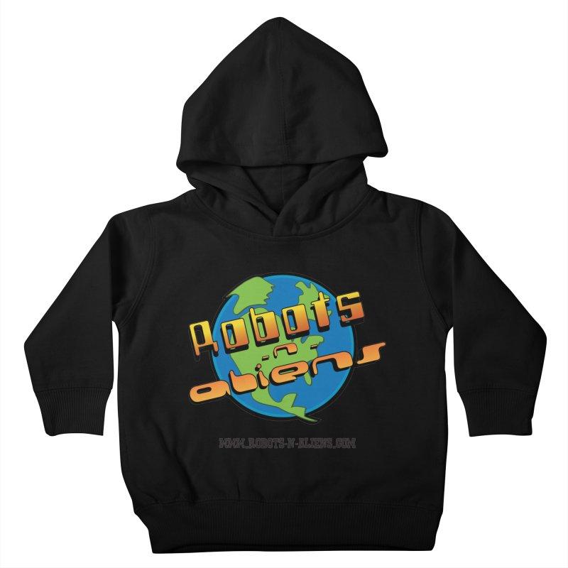 Robots 'n Aliens Big Logo Kids Toddler Pullover Hoody by Coconut Justice's Artist Shop