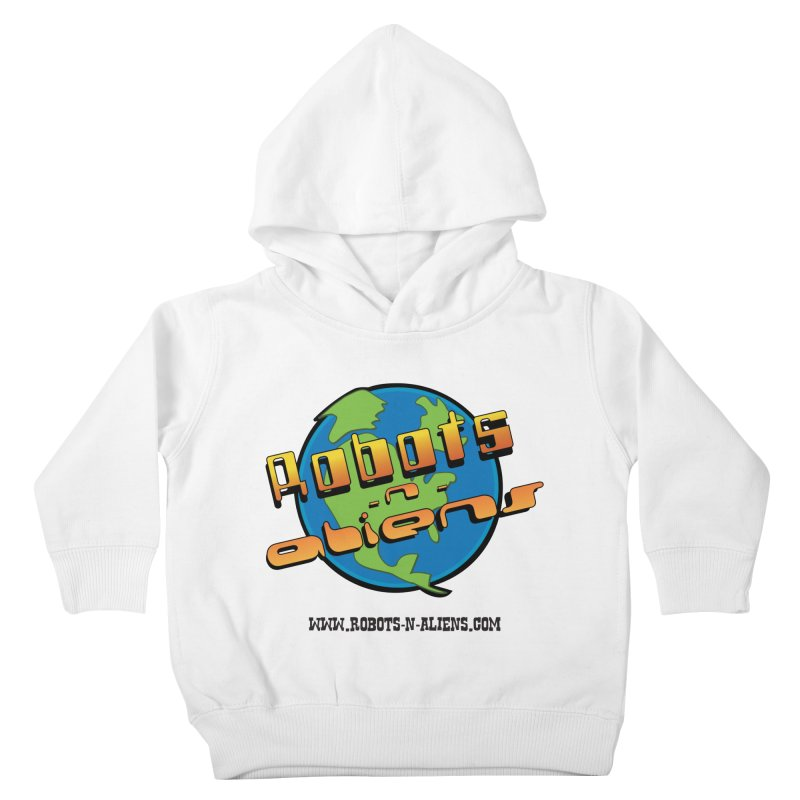Robots 'n Aliens Big Logo Kids Toddler Pullover Hoody by Coconut Justice's Artist Shop