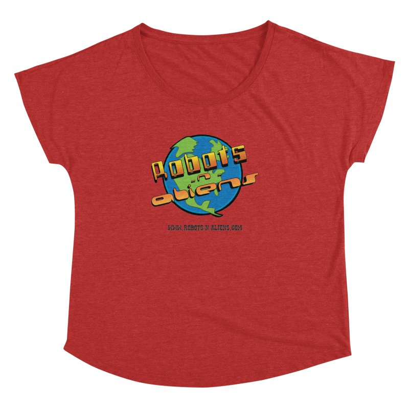 Robots 'n Aliens Big Logo Women's Dolman by Coconut Justice's Artist Shop