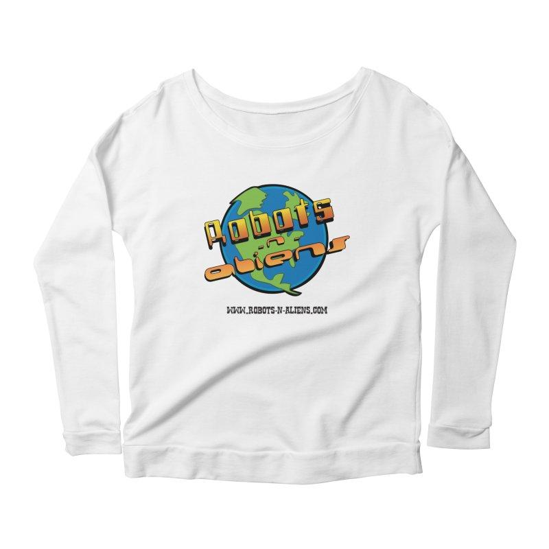 Robots 'n Aliens Big Logo Women's Scoop Neck Longsleeve T-Shirt by Coconut Justice's Artist Shop