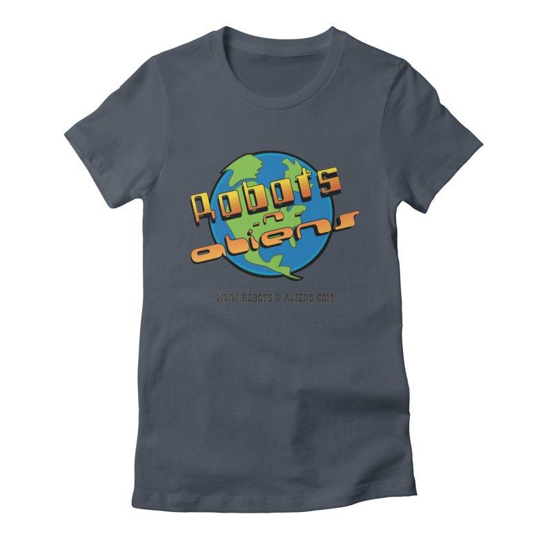 Robots 'n Aliens Big Logo Women's T-Shirt by Coconut Justice's Artist Shop