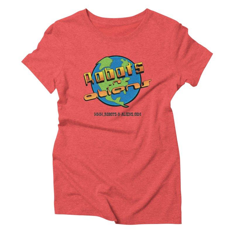 Robots 'n Aliens Big Logo Women's Triblend T-Shirt by Coconut Justice's Artist Shop