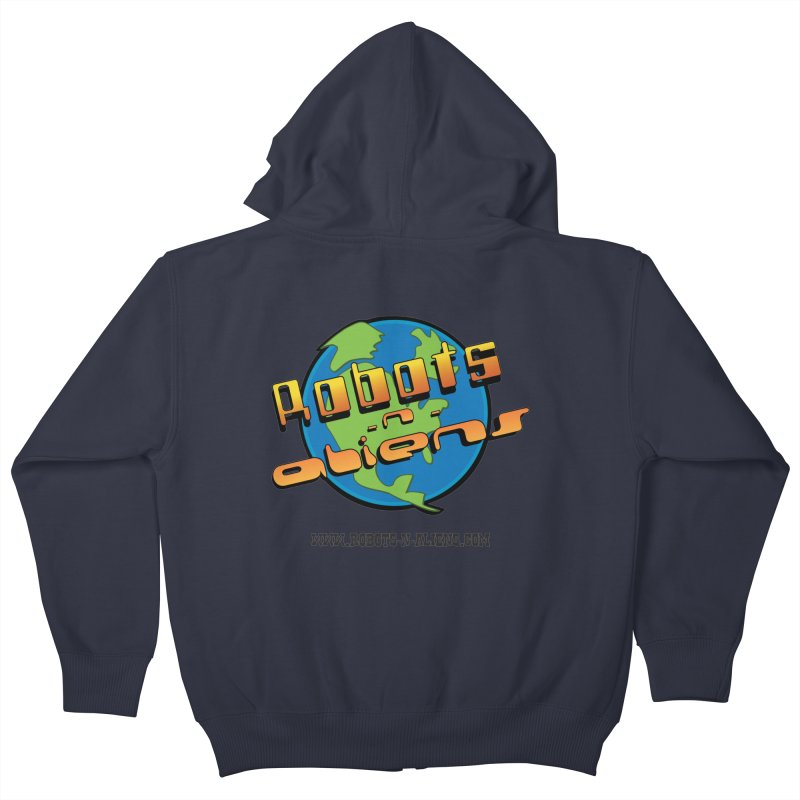 Robots 'n Aliens Big Logo Kids Zip-Up Hoody by Coconut Justice's Artist Shop