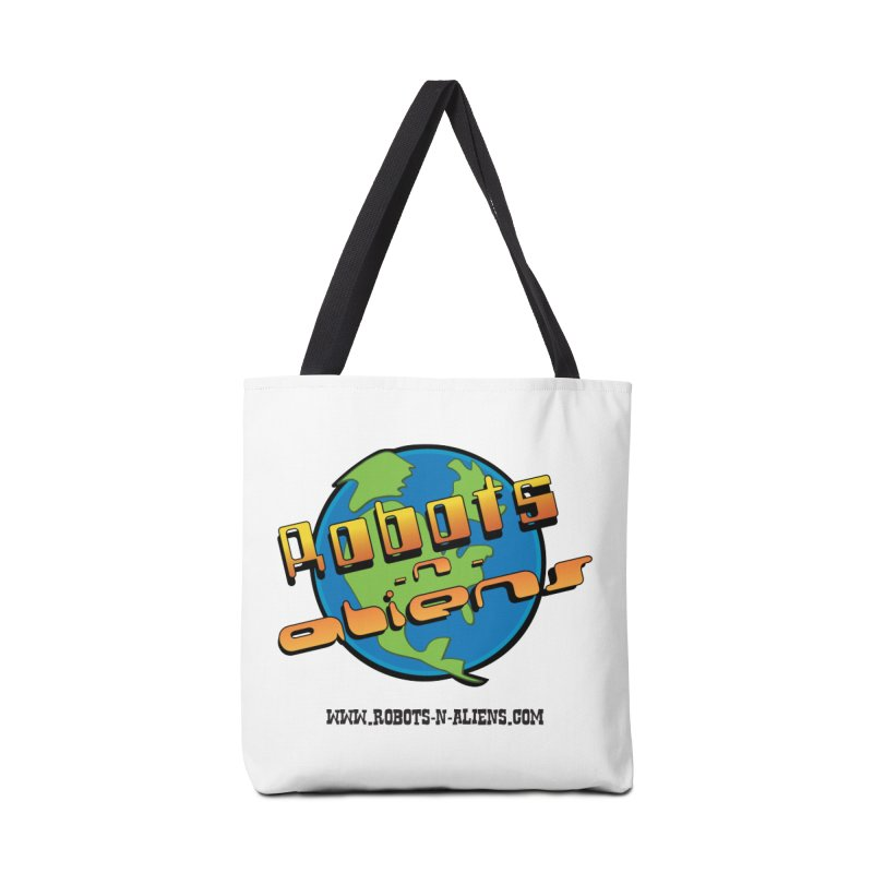 Robots 'n Aliens Big Logo Accessories Tote Bag Bag by Coconut Justice's Artist Shop