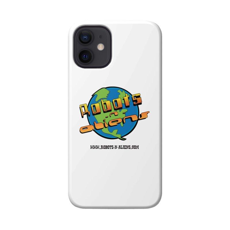 Robots 'n Aliens Big Logo Accessories Phone Case by Coconut Justice's Artist Shop
