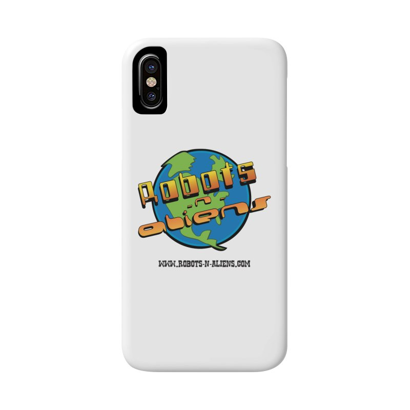 Robots 'n Aliens Big Logo Accessories Phone Case by Coconut Justice's Artist Shop