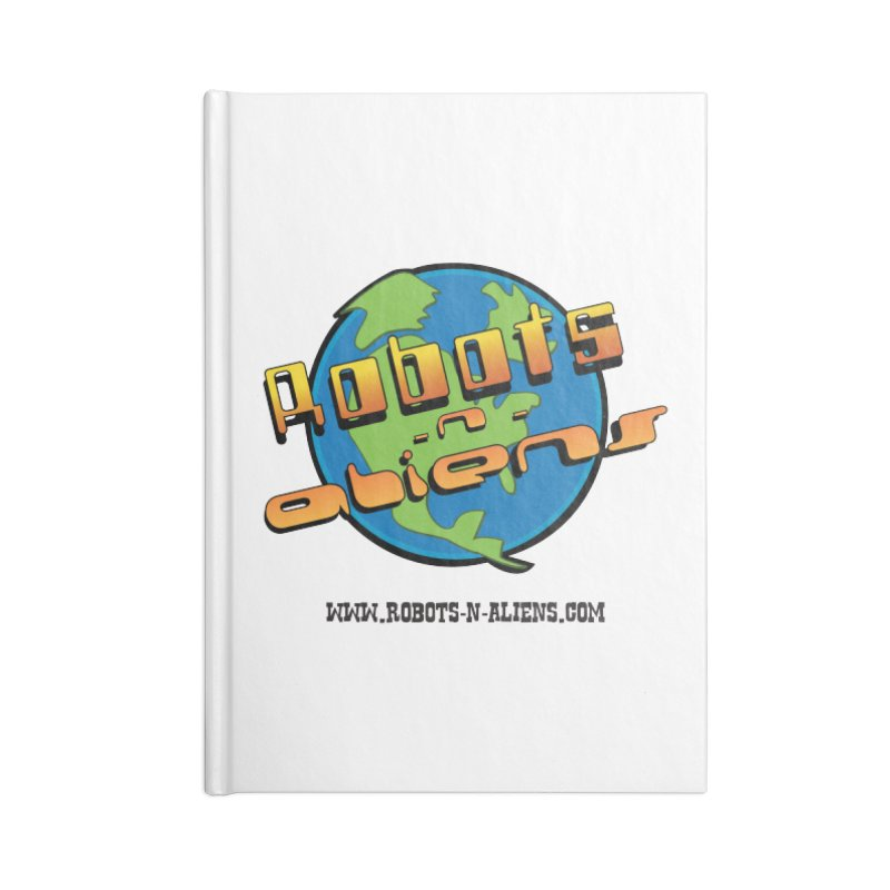 Robots 'n Aliens Big Logo Accessories Blank Journal Notebook by Coconut Justice's Artist Shop