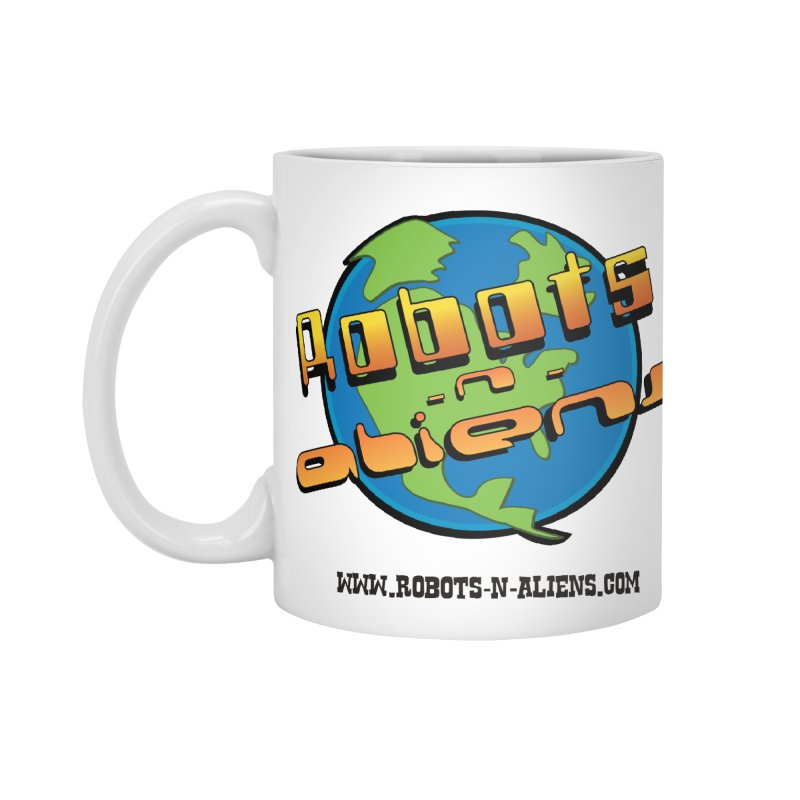 Robots 'n Aliens Big Logo Accessories Mug by Coconut Justice's Artist Shop