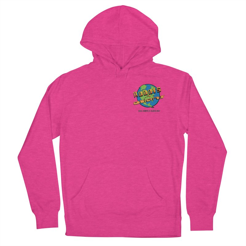 Robots 'n Aliens Logo Small Women's French Terry Pullover Hoody by Coconut Justice's Artist Shop