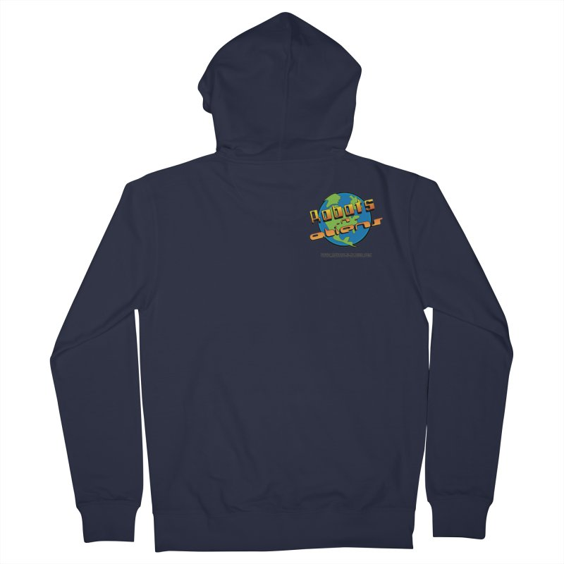 Robots 'n Aliens Logo Small Women's French Terry Zip-Up Hoody by Coconut Justice's Artist Shop