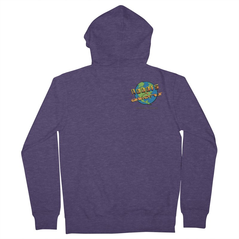 Robots 'n Aliens Logo Small Men's French Terry Zip-Up Hoody by Coconut Justice's Artist Shop