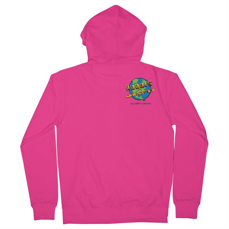 Robots 'n Aliens Logo Small Men's Zip-Up Hoody by Coconut Justice's Artist Shop