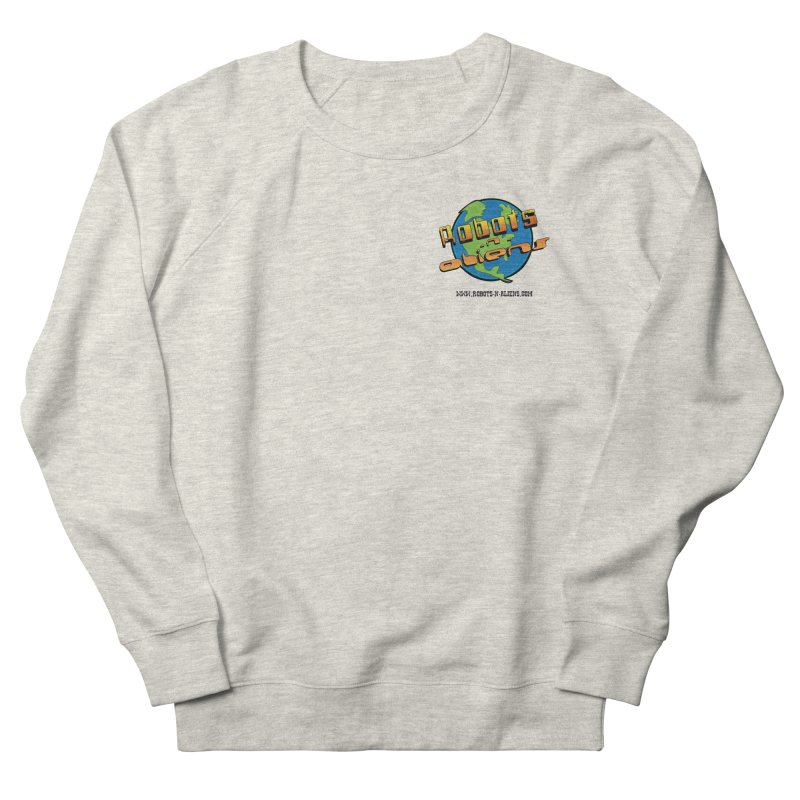 Robots 'n Aliens Logo Small Women's French Terry Sweatshirt by Coconut Justice's Artist Shop