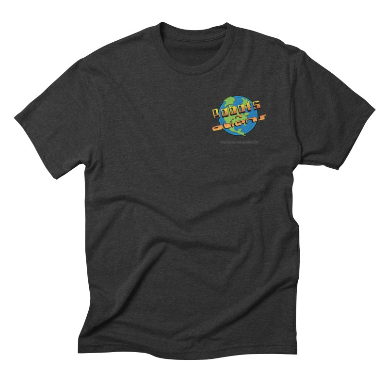 Robots 'n Aliens Logo Small Men's Triblend T-Shirt by Coconut Justice's Artist Shop