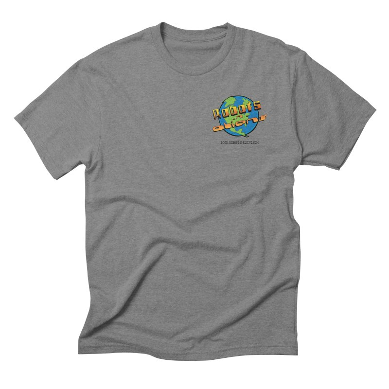 Robots 'n Aliens Logo Small Men's Triblend T-Shirt by Coconut Justice's Artist Shop