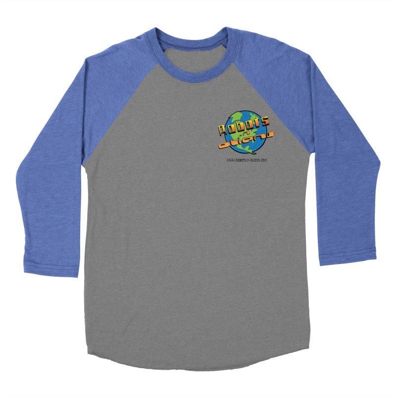 Robots 'n Aliens Logo Small Men's Baseball Triblend T-Shirt by Coconut Justice's Artist Shop