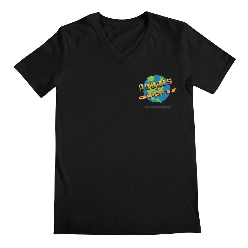 Robots 'n Aliens Logo Small Men's Regular V-Neck by Coconut Justice's Artist Shop