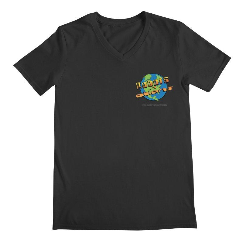 Robots 'n Aliens Logo Small Men's V-Neck by Coconut Justice's Artist Shop