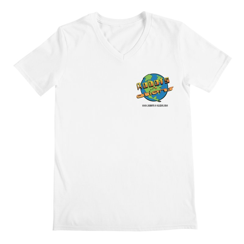 Robots 'n Aliens Logo Small Men's V-Neck by Coconut Justice's Artist Shop