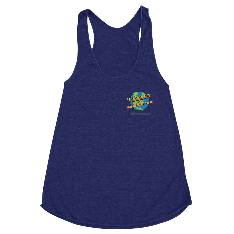 Robots 'n Aliens Logo Small Women's Racerback Triblend Tank by Coconut Justice's Artist Shop
