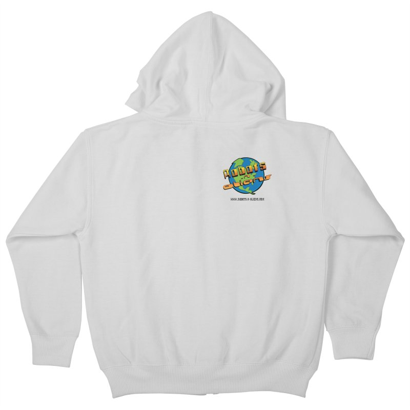 Robots 'n Aliens Logo Small Kids Zip-Up Hoody by Coconut Justice's Artist Shop