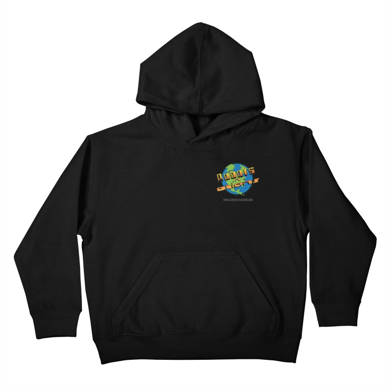 Robots 'n Aliens Logo Small Kids Pullover Hoody by Coconut Justice's Artist Shop