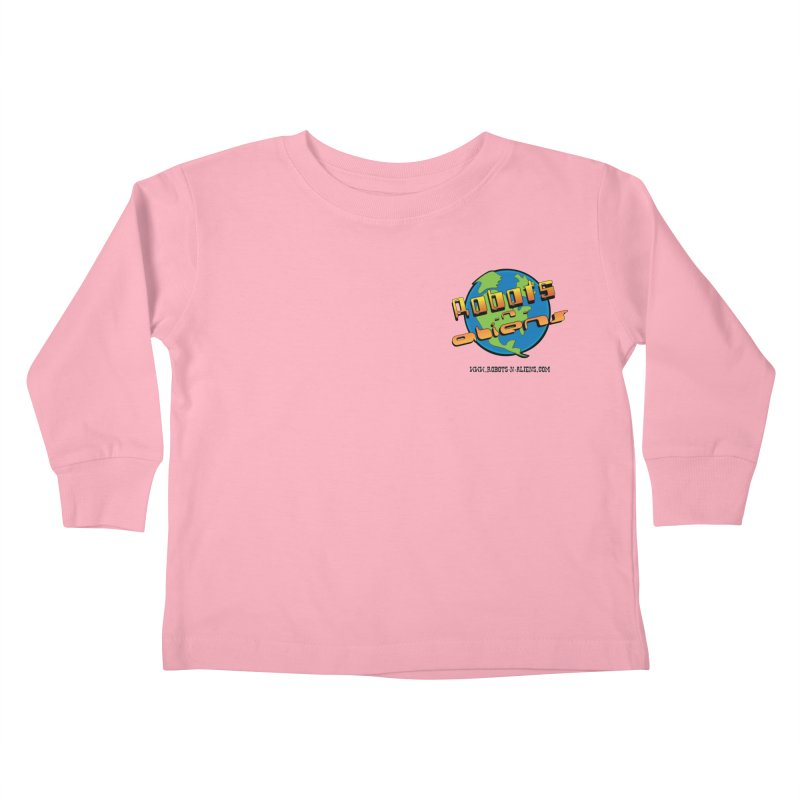 Robots 'n Aliens Logo Small Kids Toddler Longsleeve T-Shirt by Coconut Justice's Artist Shop