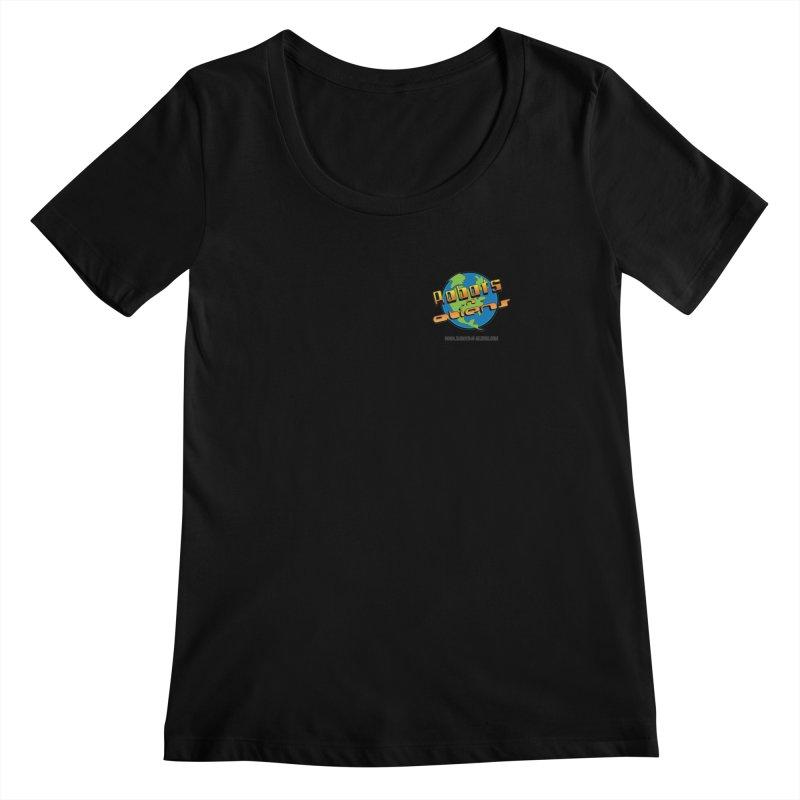 Robots 'n Aliens Logo Small Women's Scoopneck by Coconut Justice's Artist Shop