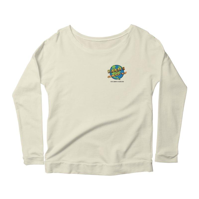 Robots 'n Aliens Logo Small Women's Scoop Neck Longsleeve T-Shirt by Coconut Justice's Artist Shop