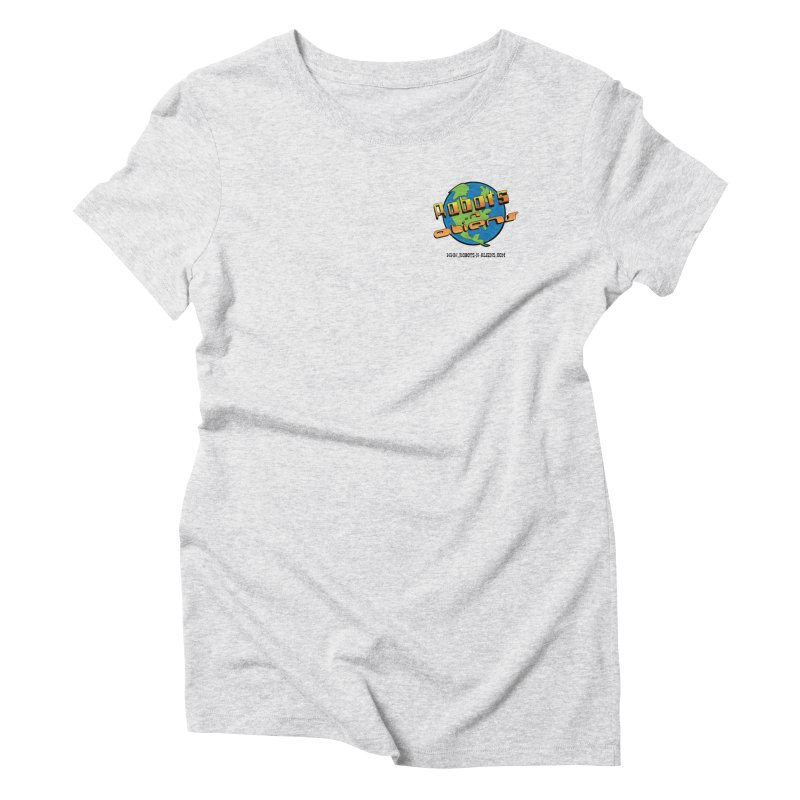 Robots 'n Aliens Logo Small Women's Triblend T-shirt by Coconut Justice's Artist Shop