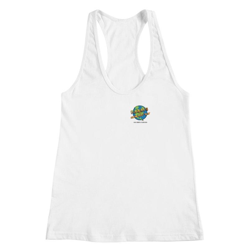 Robots 'n Aliens Logo Small Women's Racerback Tank by Coconut Justice's Artist Shop