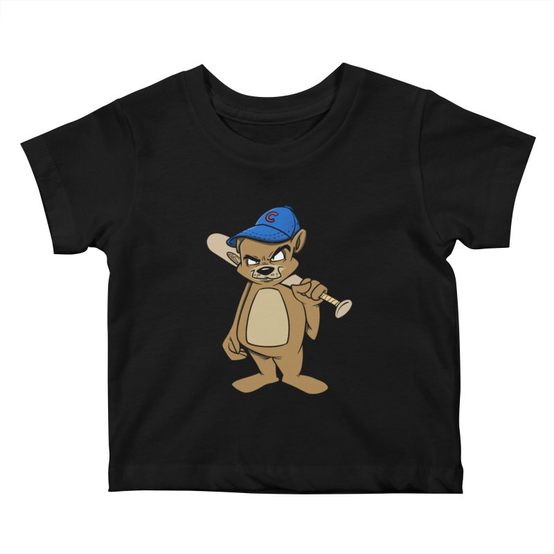 Baseball Bear Kids Baby T-Shirt by Coconut Justice's Artist Shop