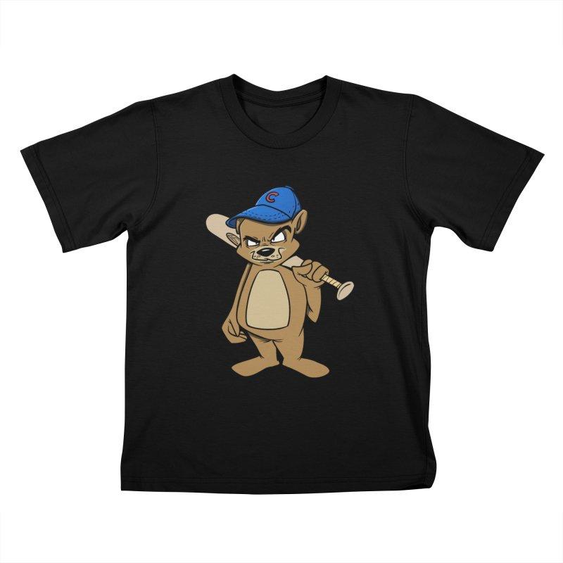Baseball Bear Kids T-shirt by Coconut Justice's Artist Shop