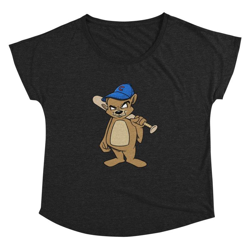 Baseball Bear Women's Dolman Scoop Neck by Coconut Justice's Artist Shop