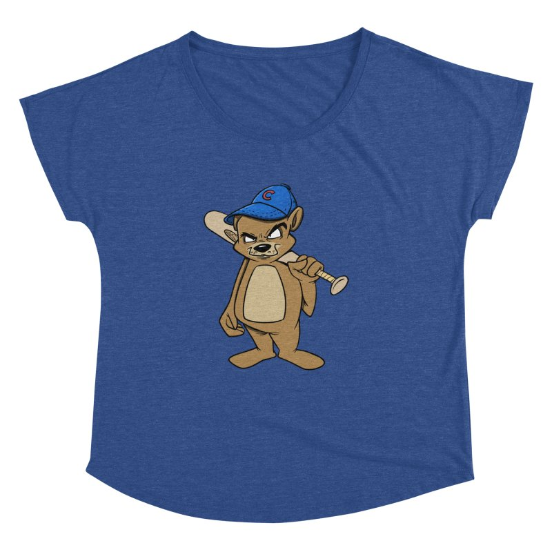 Baseball Bear Women's Dolman Scoop Neck by Coconut Justice's Artist Shop
