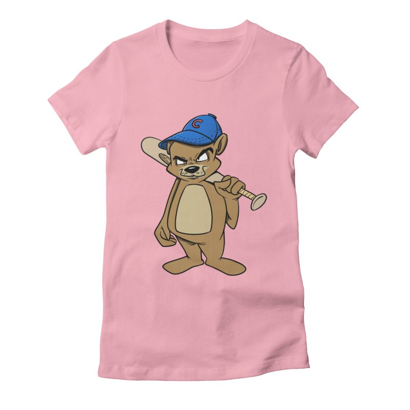 Baseball Bear Women's Fitted T-Shirt by Coconut Justice's Artist Shop