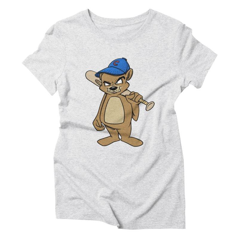 Baseball Bear Women's Triblend T-Shirt by Coconut Justice's Artist Shop