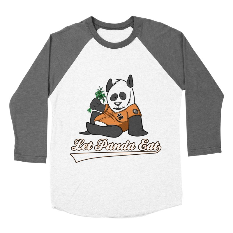 Let Panda Eat! Men's Baseball Triblend T-Shirt by Coconut Justice's Artist Shop