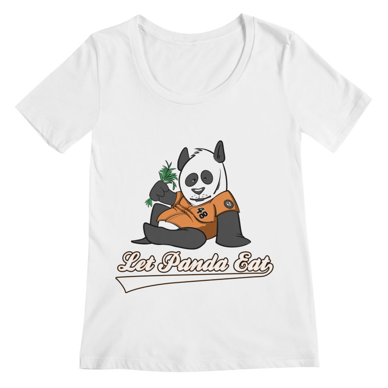 Let Panda Eat! Women's Regular Scoop Neck by Coconut Justice's Artist Shop