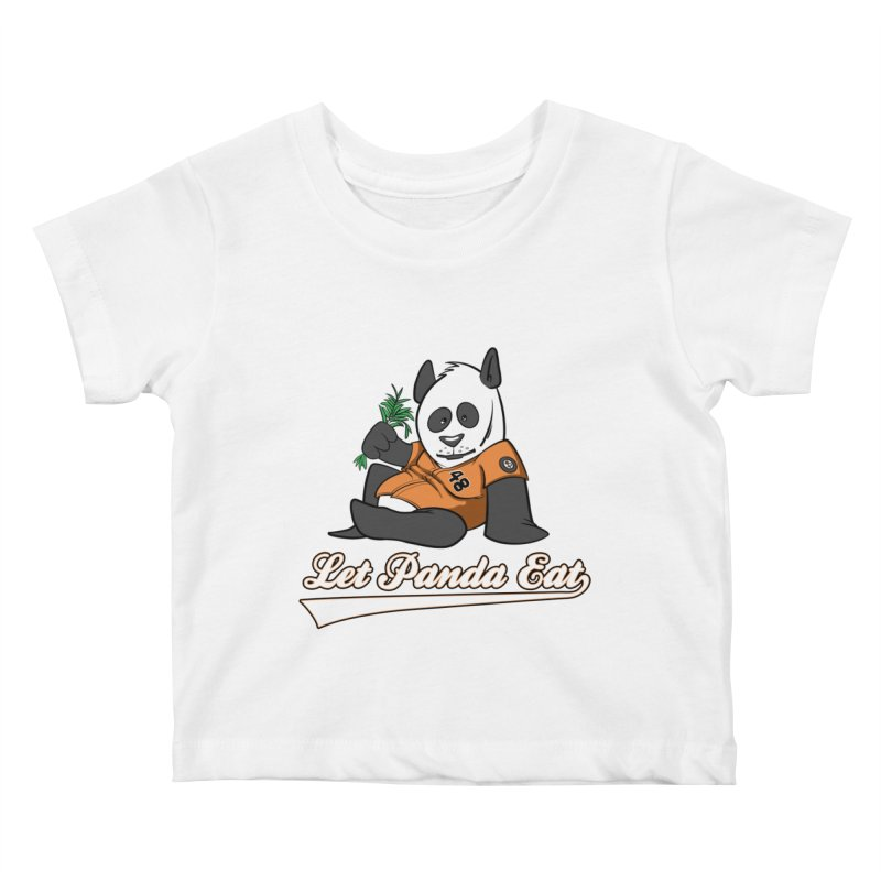 Let Panda Eat! Kids Baby T-Shirt by Coconut Justice's Artist Shop